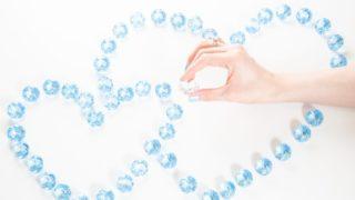 ハートに並べたダイアモンド